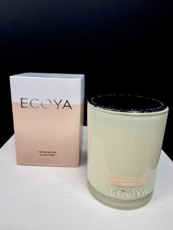 ADD an ECOYA CANDLE - Cedarwood & Leather