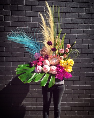 Modern A-line Floral Design