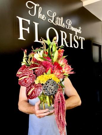 Tropical Floral Design + Vase